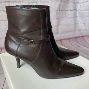 Loft Brown Leather Dylan Boots Size 7